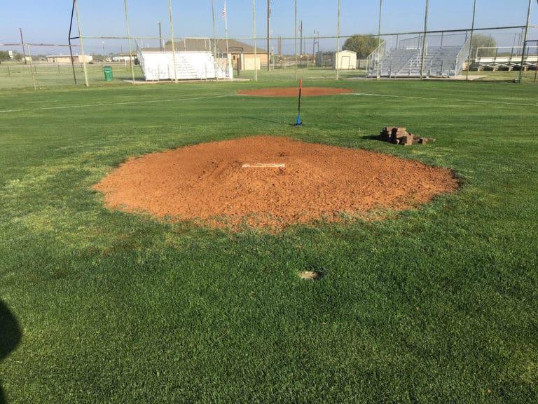 Pitching Mound Before Nat Turf